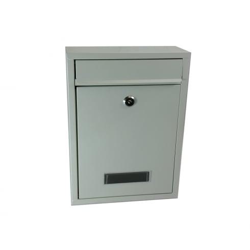 Premium Quality Galvanised Steel Post Box - White