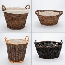 Wicker and Willow Log Baskets | Storage / Laundry Baskets