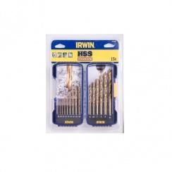 Irwin HSS Titanium Drill Bit Set 15 Piece 10503991
