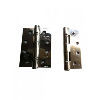 "Jedo 4"" Polished Stainless Steel Ball Bearing Hinges (GRADE 13)"