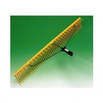 48 TOOTH PLASTIC RAKE YELLOW NO627 LANDSCAPE
