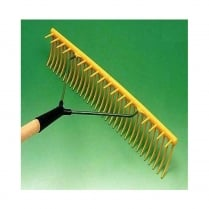 Jost Plastic Yellow Landscape Rake Head Curved 32 Teeth (Complete with Shaft)