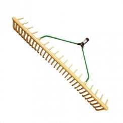 Jost Plastic Yellow Landscape Rake Head Curved 32 Teeth (Shaft Not Included)
