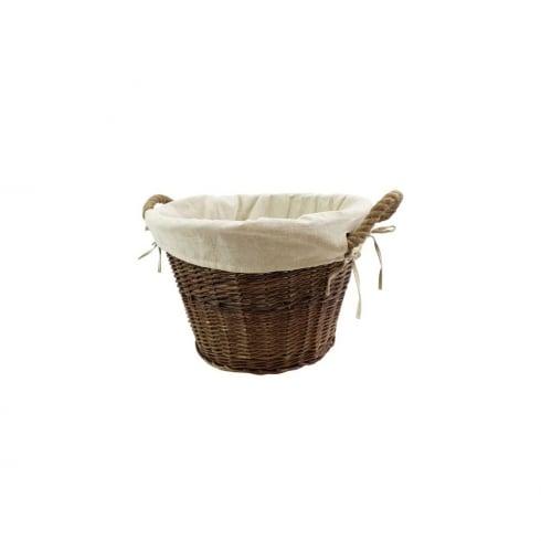 Medium Round Basket with Rope Handles