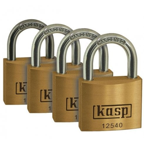 Kasp 40mm Padlock (Pkt Of 4) Quad Pack K12540D4