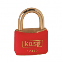 Kasp K12440REDD Brass Padlock - 40mm - Brass Shackle - Red
