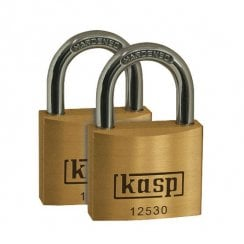 Kasp K12530D2 Premium Brass Padlock - 30mm - Twin