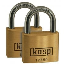 Kasp K12550D2 Premium Brass Padlock - 50mm - Twin