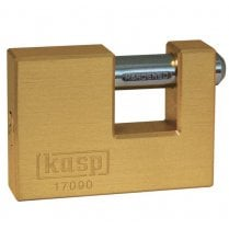 Kasp K17090D Brass Shutter Lock - 90mm