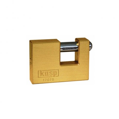 Kasp Security - Brass shutter Padlock 70mm