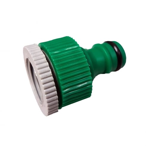 "Kingfisher Gardening Plastic Threaded Tap Connector 3/4"" and 1/2"""
