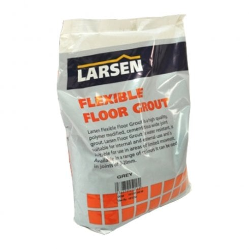 Larsen Flexible Floor Grout - GREY - 3KGS