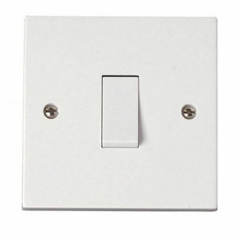Lyvia Light Switch Single Gang 1 Way 1 Gang 1G 10AX White Plastic Wall Switch