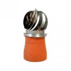 MAD Spinner Chimney Cowl Raw Stainless Steel