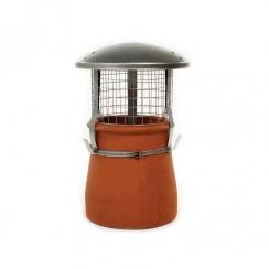 Steel Rain Chimney Cowl with Birdguard