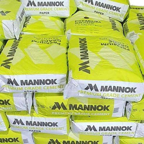 Mannok Premium Grade Cement - 25kgs - 20 bags