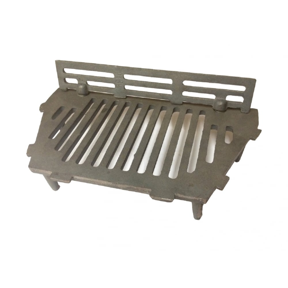 A l st iron bottom fire grate complete with coal guard