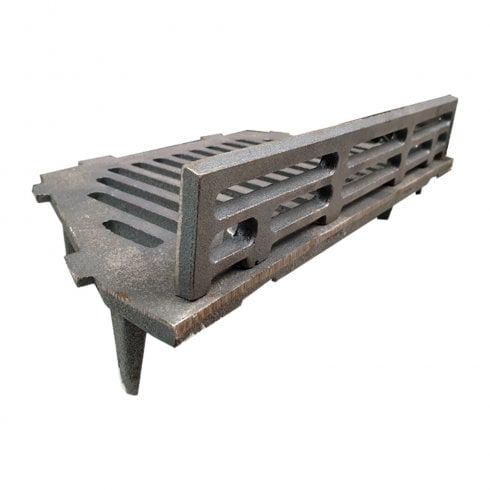 """Manor A.L.Cast Iron Bottom Fire Grate Complete With Coal Guard-16"""" Open Fire"""