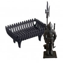 Black Knight Companion Set and Snug Fire Basket
