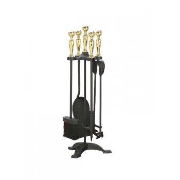 Manor Companion Set 550mm Black and Brass 1066