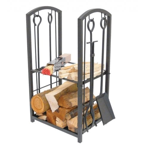 Manor Log Station - Black with Tools