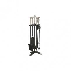 Manor Companion Set 550mm Black and Pewter 1056
