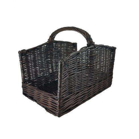 Manor Willow Arched Side Log Basket Small
