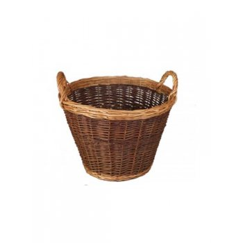 Small 2 Tone Log Basket