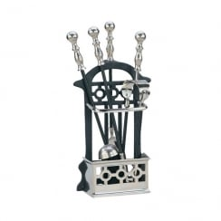 Manor Victorian Companion Set Pewter/Black