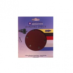 National Abrasives 125mm Random Orbit Discs - Sandpaper (Pack of 5)