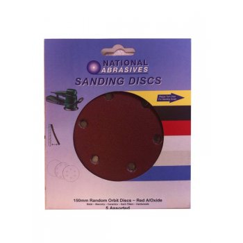 NA 150MM RANDOM ORBIT DISCS  5 ASS SANDPAPER