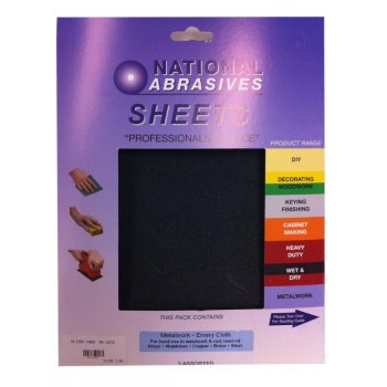 National Abrasives Wet & Dry Paper - Pack of 5