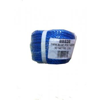 BLUE 6MM ROPE 30 METRE ROLL