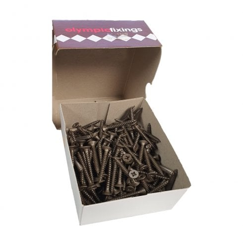 Olympic Fixings Cross Head Timber Screws - 4.5x60mm Ruspert Brown (200)