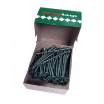 Cross Head Timber Screws - 4.5x75mm Ruspert Green (100)