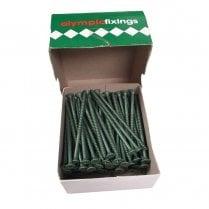Cross Head Timber Screws - 5.0x100mm Ruspert Green (100)