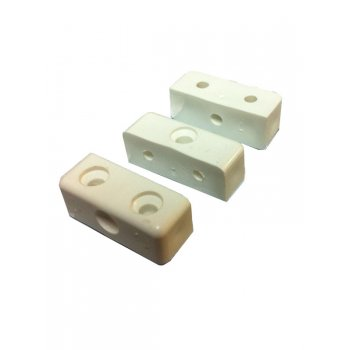 Olympic Fixings Modesty Block Fixers - Pack of 10 - Brown / White / Cream