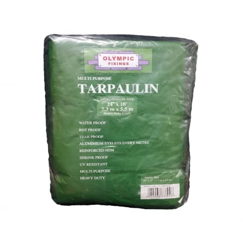 Olympic Fixings Multi Purpose Tarpaulin - Heavy Duty Green