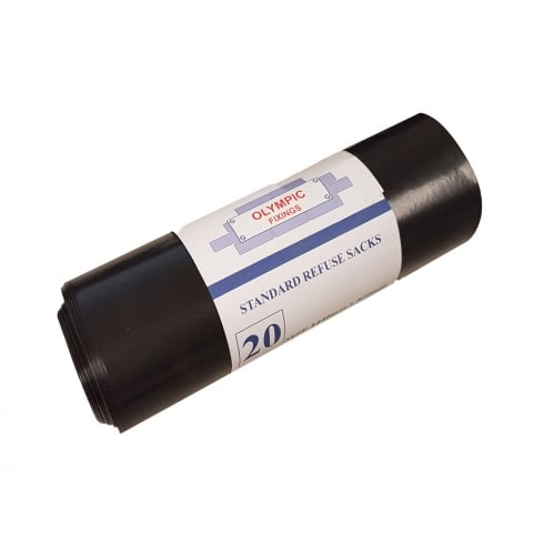 Olympic Black Refuse Sack 1440 x 840mm - Roll of 20