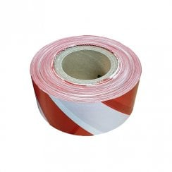 Red and White Warning Tape 70mm x 500m