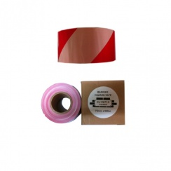RED&WHITE WARNING TAPE 75X 500M ZEBRA