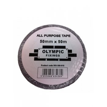 Olympic Fixings Silver All Purpose Tape 500mm X 50M (Duck Tape)