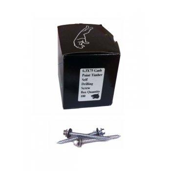 38MM SELF DRILL SCREW C/W WASHER (100) fine