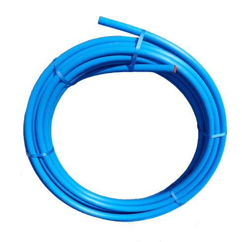 PipeLife Blue MDPE Plastic Cold Water Mains Pipe 20mm x 25meter coil