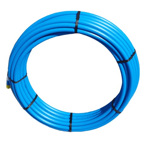 PipeLife Blue MDPE Plastic Cold Water Mains Pipe 20mm x 50meter coil
