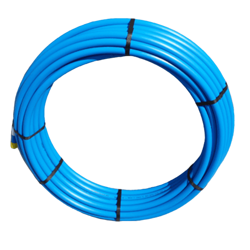 PipeLife Blue MDPE Plastic Cold Water Mains Pipe 25mm x 50meter coil