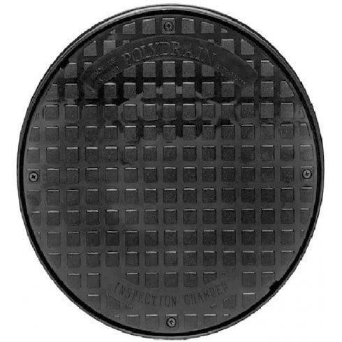 POLYDRAIN Underground Drainage 320mm Inspection Chamber Cover Round Manhole Drain Cover