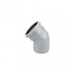 SOIL PIPE BEND 45DEG S/S (GREY)