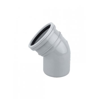 Polypipe Soil Pipe Single Socket Bend  45DEG S/S (GREY)