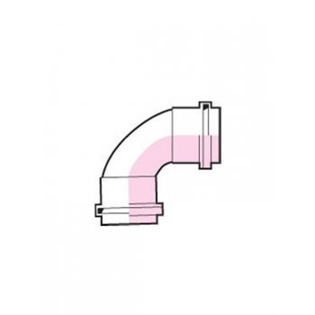 Waste Pipe Swept Bend 91.25 Degree 32mm GREY